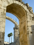 Arch of the Hurva Synagogue  Old Walled City  Jerusalem  Israel  Middle East