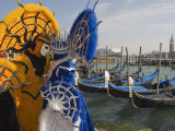 Masked Faces and Costume at the Venice Carnival  Venice  Italy