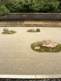 Ryoanji Temple Rock Garden  Ryoan-Ji  Unesco World Heritage Site  Kyoto City  Honshu  Japan