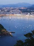 San Sebastian Bay at Night  Basque Country  Euskadi  Spain