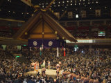 Sumo Wrestlers  Kokugikan Hall Stadium  Tokyo  Japan