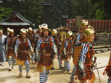 Men in Traditional Samurai Costume  Toshogu Shrine  Tochigi Prefecture  Japan
