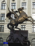 George and the Dragon  Equestrian Monument  Old Town  Unesco World Heritage Site  Lviv  Ukraine