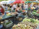 Fruit and Vegetable Market  Split  Dalmatia Coast  Croatia