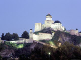 Gothic 15th Century Castle at Dusk  Trencin  Trencin Region  Slovakia