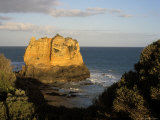 Lone Volcanic Rock Stack off the Coast at Aireys Inlet  Great Ocean Road  Victoria  Australia
