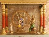 Shrine with Hindu Deity  a Dancing Shiva  at Sri Maha Mariamman Temple  Kuala Lumpur  Malaysia
