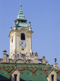Tower and Decorated Roof of the Old Town Hall  Bratislava  Slovakia