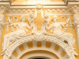 Stucco Decoration on Facade of Dvorana Glauberovych Spring Spa Building Dating from 19th Century