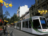 New Tram in Bourke Street Mall in the City  Melbourne  Victoria  Australia