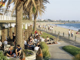 Cafe at the Beach  St Kilda  Melbourne  Victoria  Australia