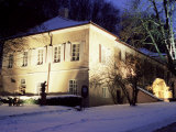Snow Covered Baroque Bertramka Villa Where Amadeus Mozart Lived During His Stay in Prague  Prague