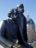 Close-Up of Statue of Marx and Engels  Alexanderplatz Square  Mitte  Berlin  Germany