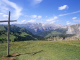 Christian Crosses Dominate Most Prominent Peaks in Alps  2244M  Alto Adige