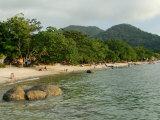 Tourists Enjoying Nipah Beach at Sunset Time  Pangkor Island  Perak State  Malaysia