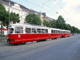 Tram  Leopoldstadt  Vienna  Austria