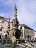 Baroque Plague Column Dating from 1715  Kutna Hora  Czech Republic
