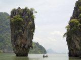 View of Koh Ping-Gan from Koh Ta Poo  Known as James Bond Island  Phang-Nga Bay  Thailand