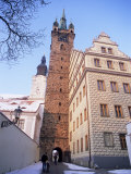 Gothic Black Tower Dating from 1557 and Renaissance Town Hall by Architect Josef Fanta