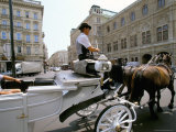 Horse Drawn Carriage  Vienna  Austria
