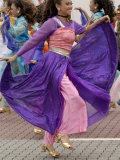 Malay Dancer Wearing Traditional Dress at Celebrations of Kuala Lumpur City Day Commemoration