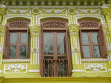 Facade of Traditional Singaporean Colonial Building in Arab Quarter  Colonial District  Singapore