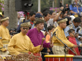 Malay Men Wearing Traditional Dress  Merdeka Square  Malaysia