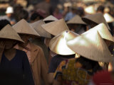 Women Wearing Conical Hats  Binh Tay Market  Ho Chi Minh City (Saigon)  Vietnam