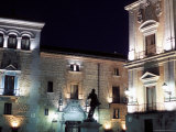 Ayuntamiento (Town Hall) Floodlit at Night  Plaza De La Villa  Centro  Madrid  Spain