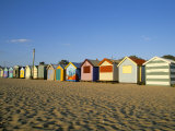 Beach Huts at Brighton Beach  Melbourne  Victoria  Australia