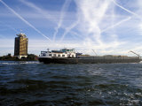 Cargo Boat on the River Ij  Amsterdam  the Netherlands (Holland)