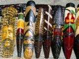Souvenir Masks for Sale  Ocho Rios  Jamaica  West Indies  Central America