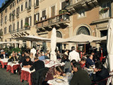 Outdoor Cafe  Piazza Navona  Rome  Lazio  Italy
