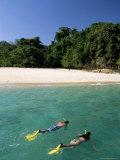 Couple Snorkelling  Chapera Island (Contadora)  Las Perlas Archipelago  Panama  Central America