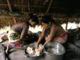 Embera Indian Cooking  Soberania Forest National Park  Panama  Central America