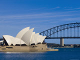 Opera House and Harbour Bridge  Sydney  New South Wales  Australia
