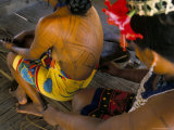 Body Art of the Embera Indian Women  Soberania Forest National Park  Panama  Central America