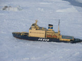 Russian Icebreaker  Seen from Helicopter Flight  Antarctica