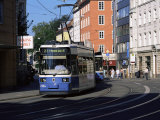 Tram in the City Centre  Munich  Bavaria  Germany