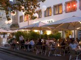 People Sitting at an Outdoors Cafe  Stuttgart  Baden Wurttemberg  Germany