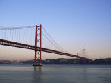 Ponte 25 De Abril Over the River Tagus  Lisbon  Portugal