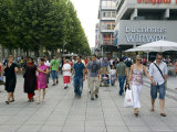 People Walking on Konigstrasse  Stuttgart  Germany