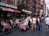 People Sitting at an Outdoor Restaurant  Little Italy  Manhattan  New York State