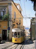 Funicular at Elevador Da Bica  Lisbon  Portugal