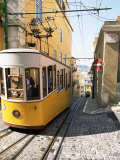 Funicular at Elevador Da Bica  Lisbon  Portugal