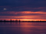 Sunrise at the Lake Near Churchill  Hudson Bay  Manitoba  Canada