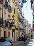 Street in Bairro Alto  Lisbon  Portugal