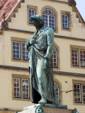 Statue of the Poet Friedrich Schiller  Schillerplatz  Stuttgart  Baden Wurttemberg  Germany