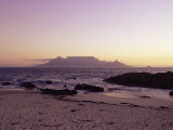 View to Table Mountain from Bloubergstrand  Cape Town  South Africa  Africa