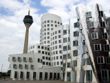The Neuer Zollhof Building by Frank Gehry at the Medienhafen  Dusseldorf  North Rhine Westphalia